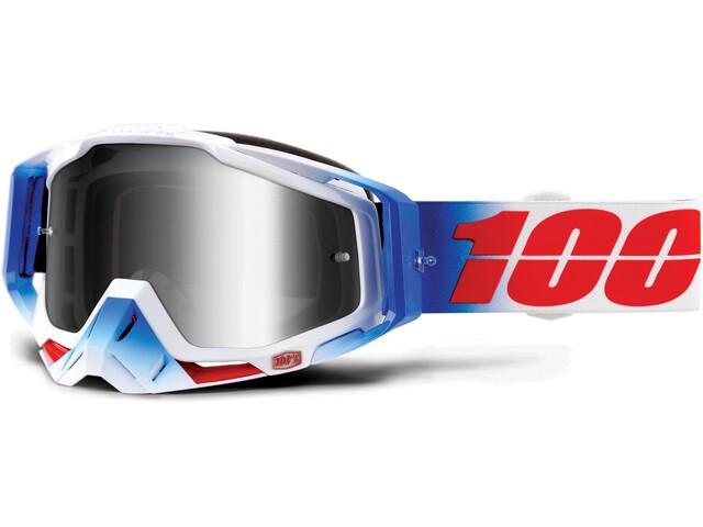 100% Racecraft Anti Fog Mirror Goggles Blå